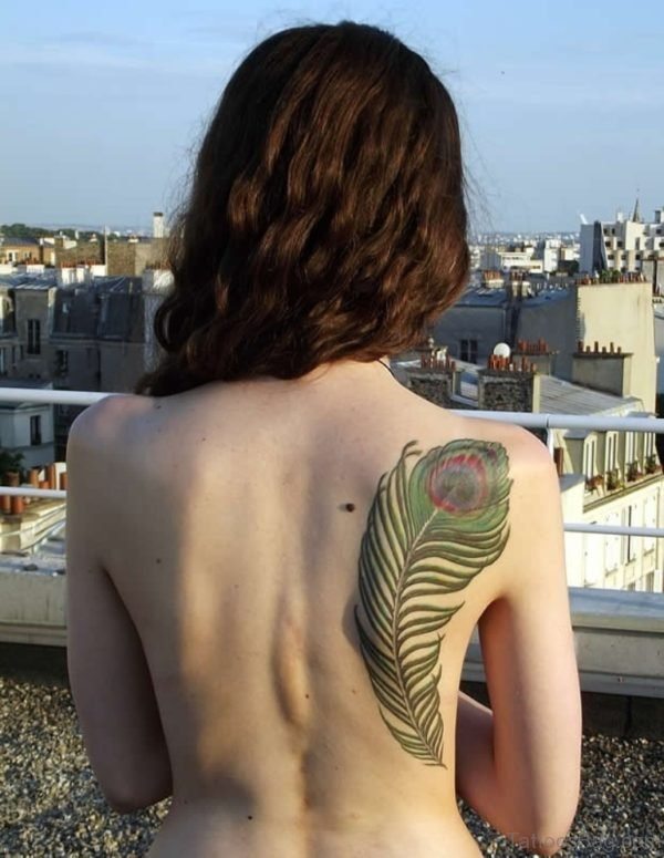 Pretty Feather Tattoo Design