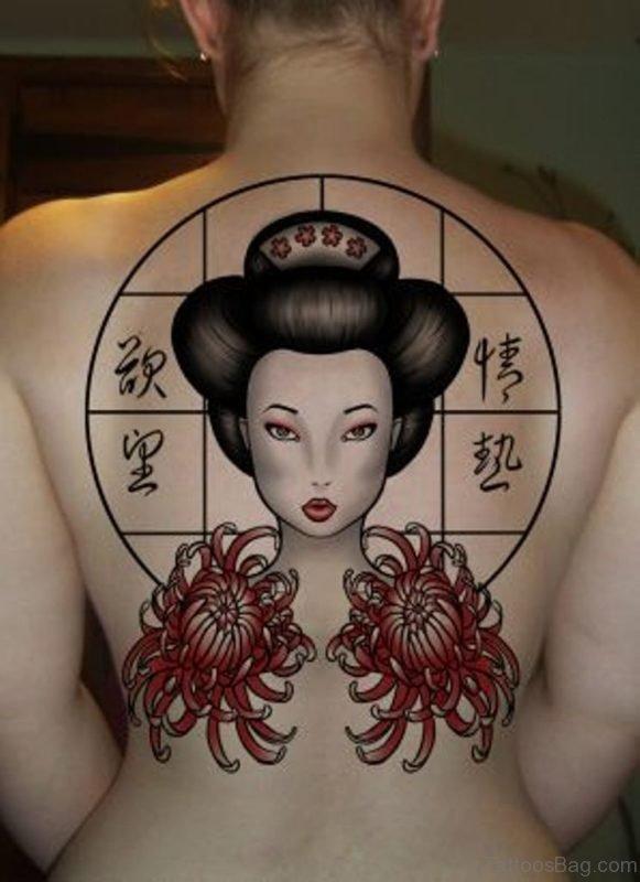 Pretty Geisha Tattoo