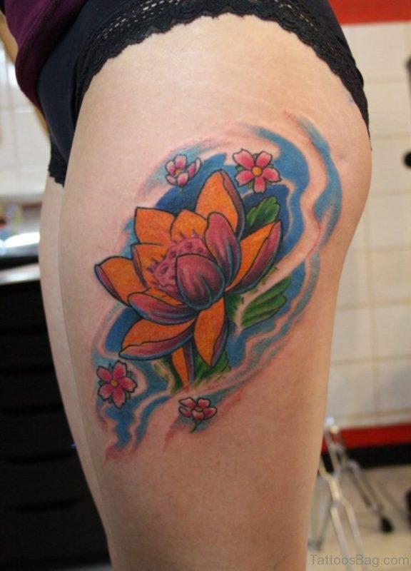 Pretty Lotus Tattoo