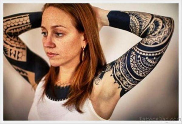 Pretty Mandala Tattoo On Full Sleeve