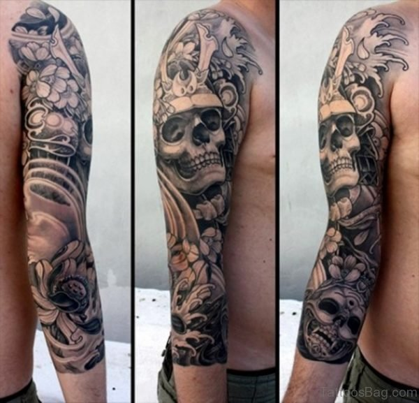 Pretty Skull Tattoo
