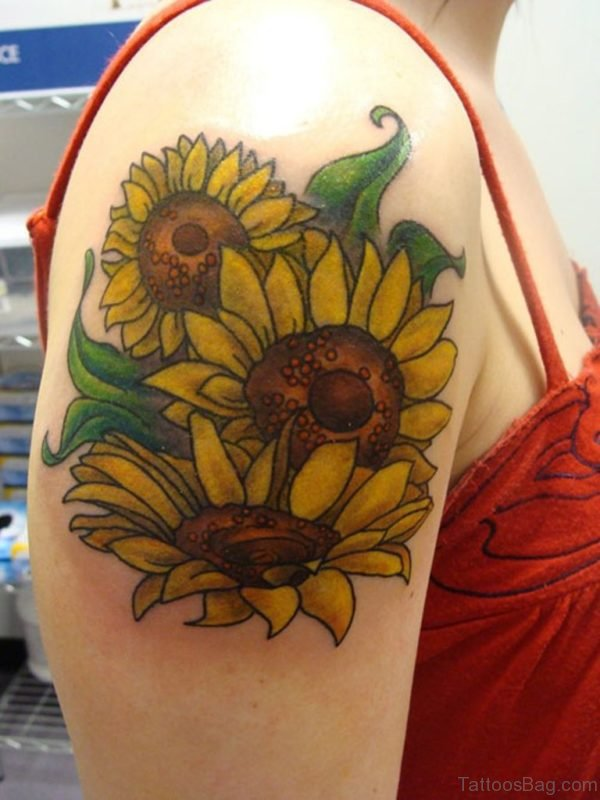 Pretty Sunflowers Tattoo