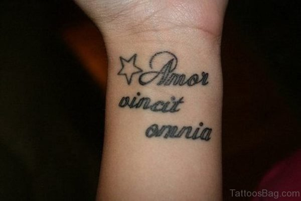 Pretty Wording Tattoo On Wrist