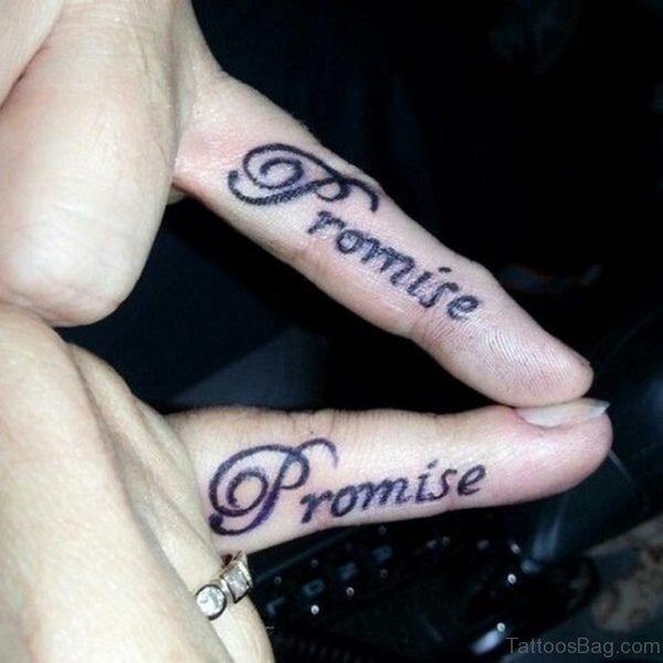 Promise Tattoo On Finger