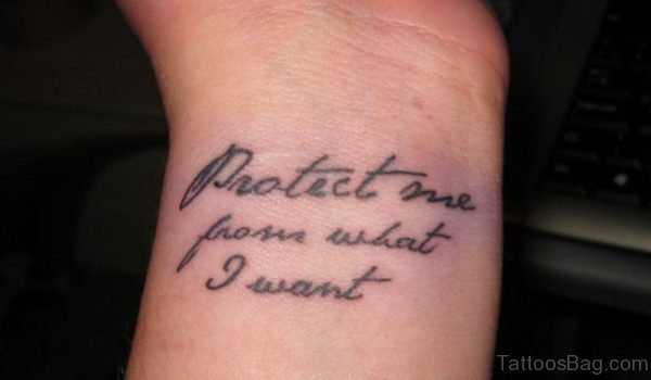 Protect Me Quote Tattoo