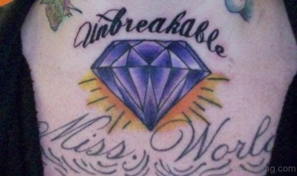 Purple Diamond Tattoo