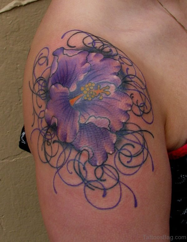 Purple Flower Lace Tattoo