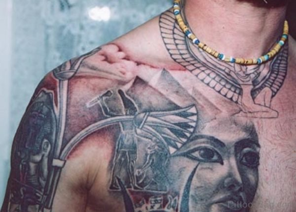 Pyramid And Aztec Tattoo