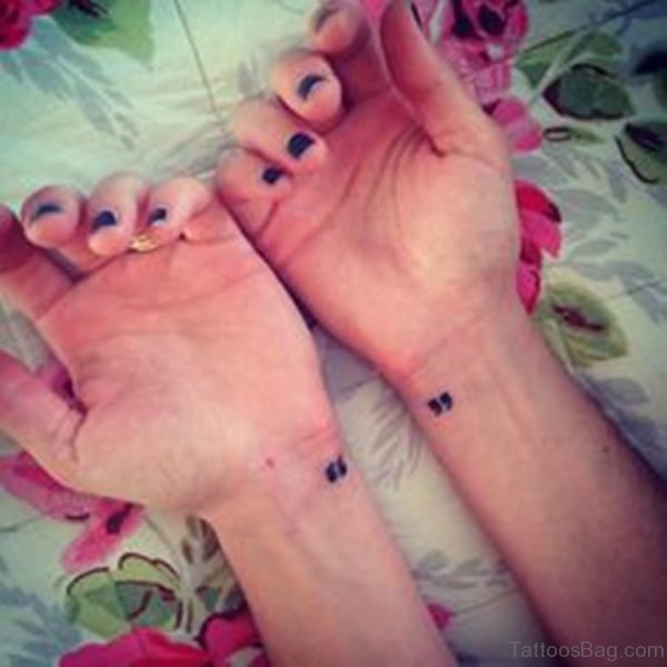 Quotation Mark Tattoo Design