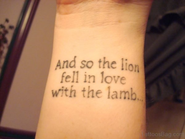 Quote Wrist Tattoo 1
