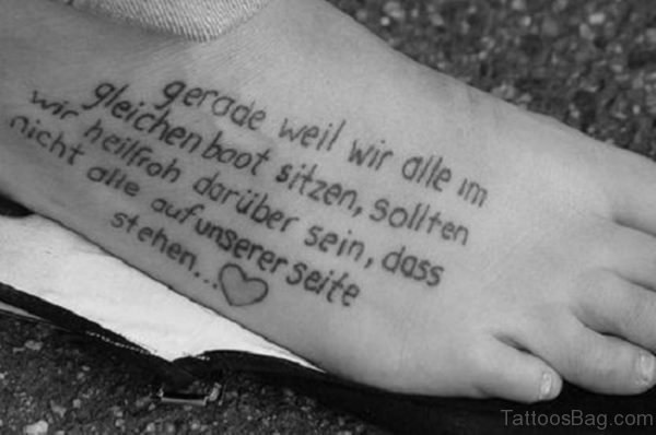 Quotes Tattoo For Foot