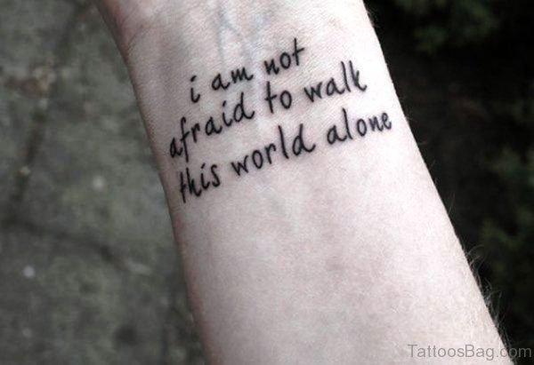 Quotes Wrist Tattoo