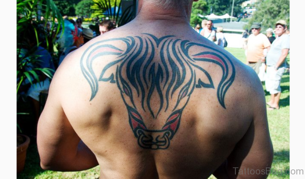 Raging Bull Tattoo On Back