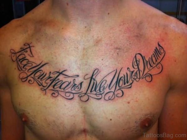 Real Madrid Theme Wording Tattoo