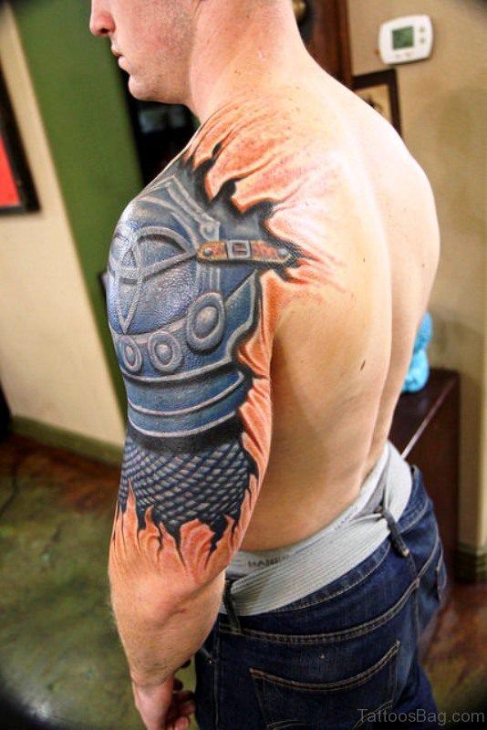 Realistic Armor Tattoo