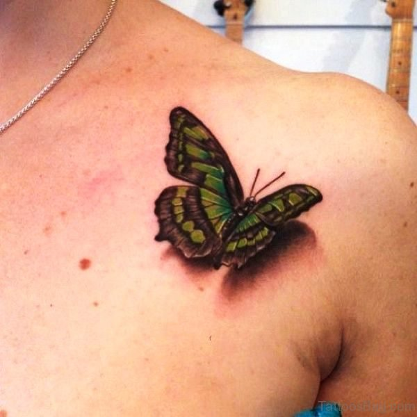 Realistic Butterfly Tattoo Design