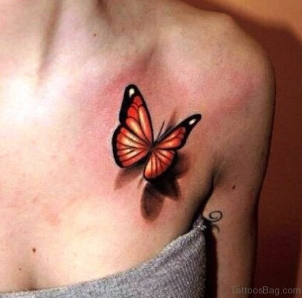 Realistic Butterfly Tattoo