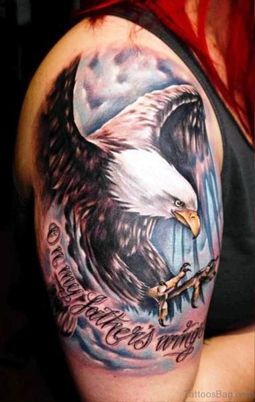 Realistic Colorful Shoulder Tattoo Design