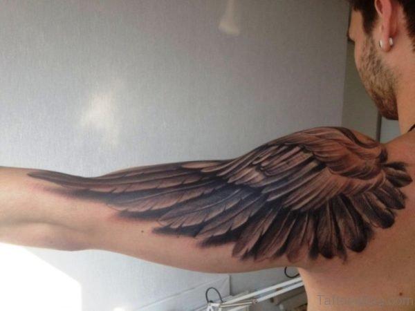 Realistic Eagle Feather Tattoo