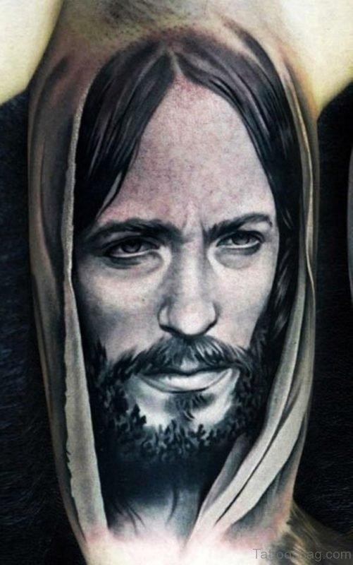Realistic Jesus Tattoo Design