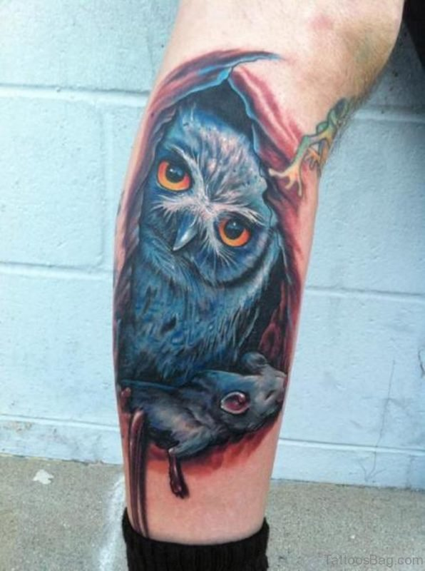 Realistic Owl Tattoo