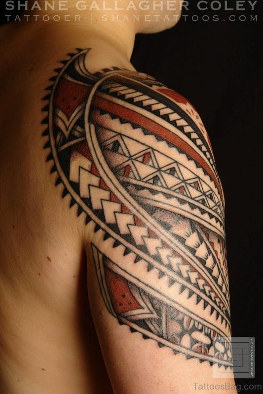 68 perfect samoan shoulder tattoos. Black Bedroom Furniture Sets. Home Design Ideas
