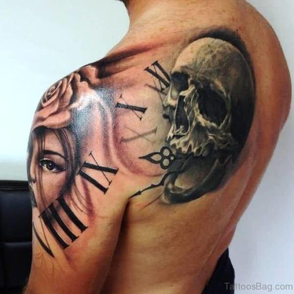 Realistic Skull Realistic Skull Tattoo Design Tattoo Design clck8085