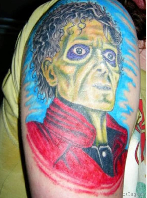 Realistic Zombie Man Tattoo On Shoulder