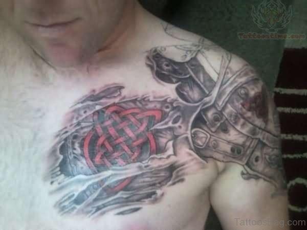 Red Armor Tattoo