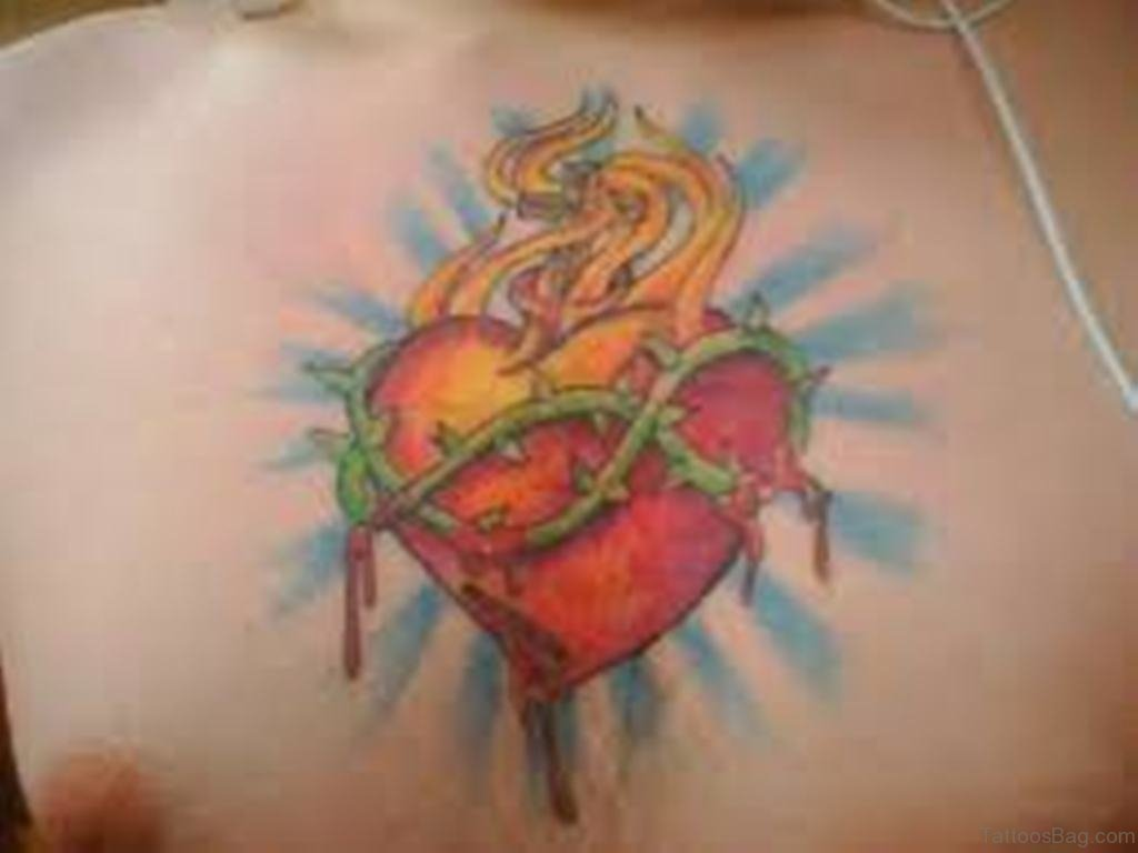 421755c8f19f2 81 Mind Blowing Heart Tattoos On Chest