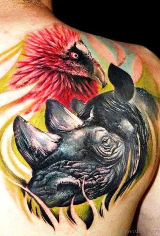 Red Eagle Tattoo Design