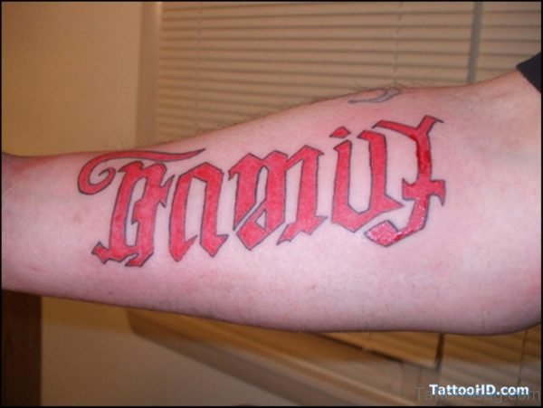 Red Family Tattoo