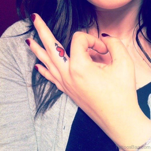 64 Perfect Arrow Tattoos On Finger