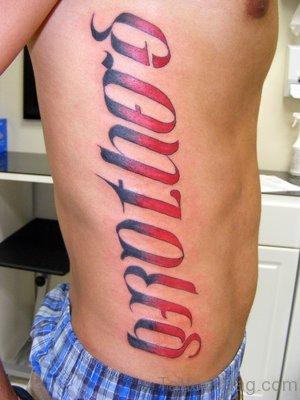 Red Ink Ambigram Tattoo