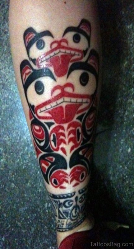 Red Ink Tribal Tattoo