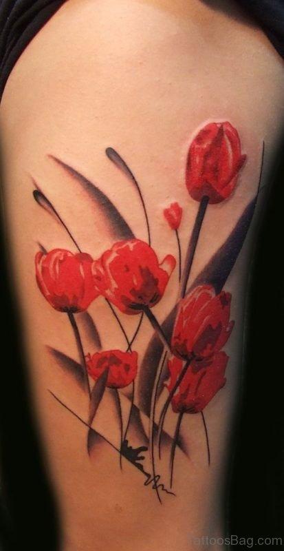 Red Magnolia Tattoo