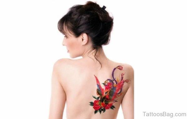 Red Phoenix Tattoo Design