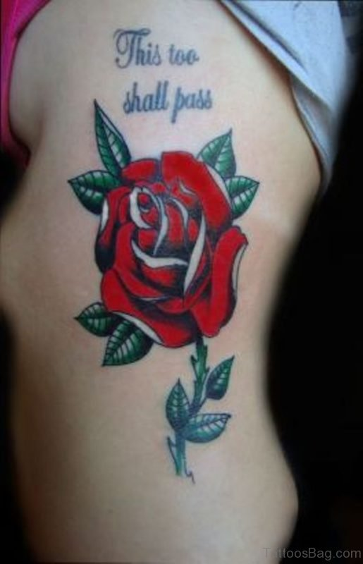Red Rose Tattoo For Girl