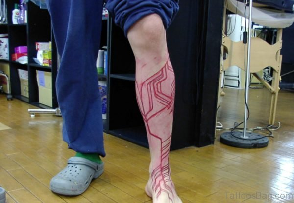 Red Tribal Tattoo