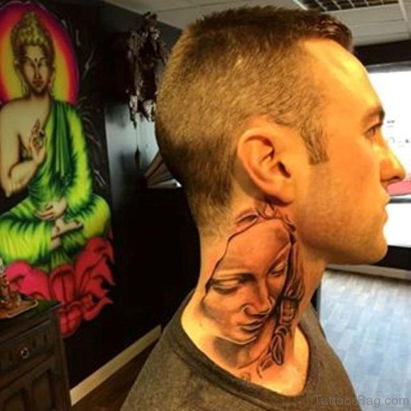 Religious Neck Tattoo