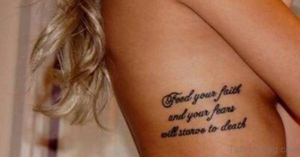 Rib Quote Tattoo