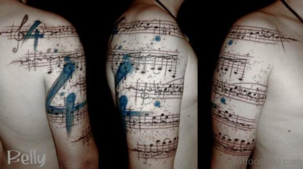 Right Shoulder Music Tattoo