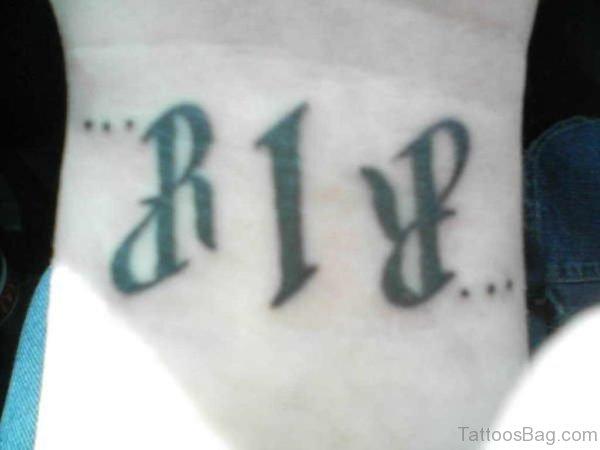 Rip Ambigram Tattoo