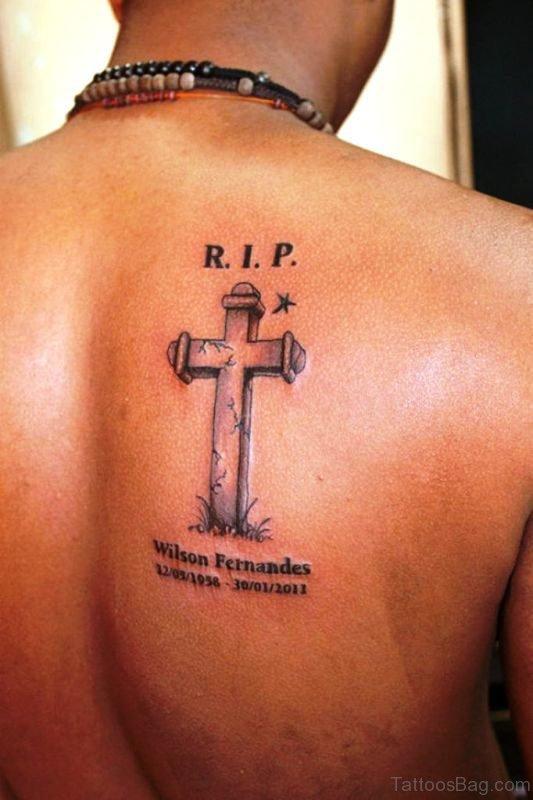 Rip Cross Tattoo Design