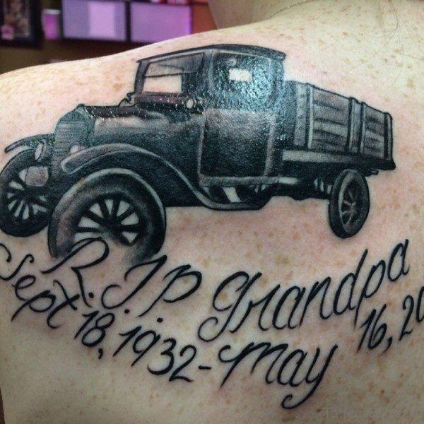 Rip Grandpa Memorial Tattoo