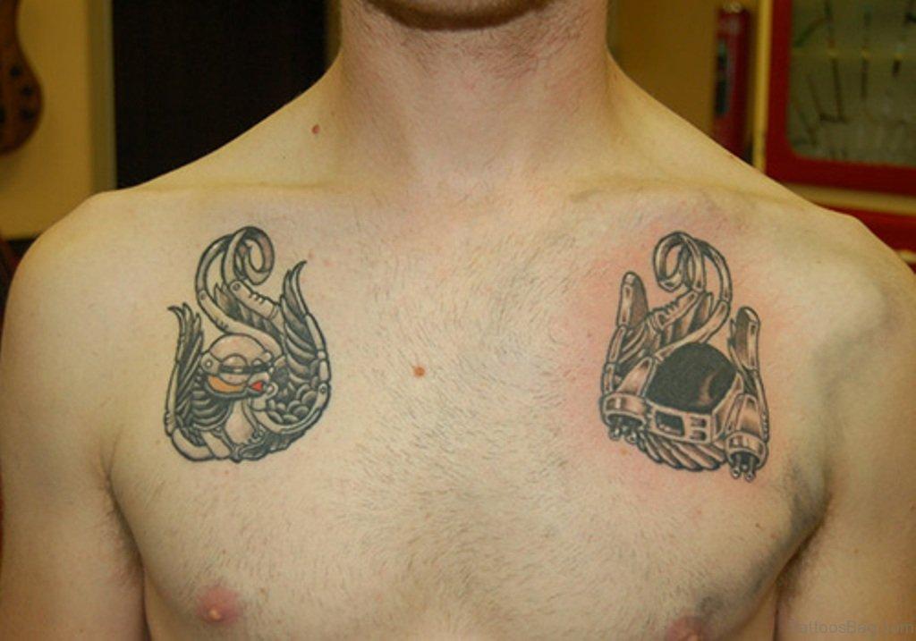 21f1fcfb8 50 Beautiful Swallow Tattoos On Chest