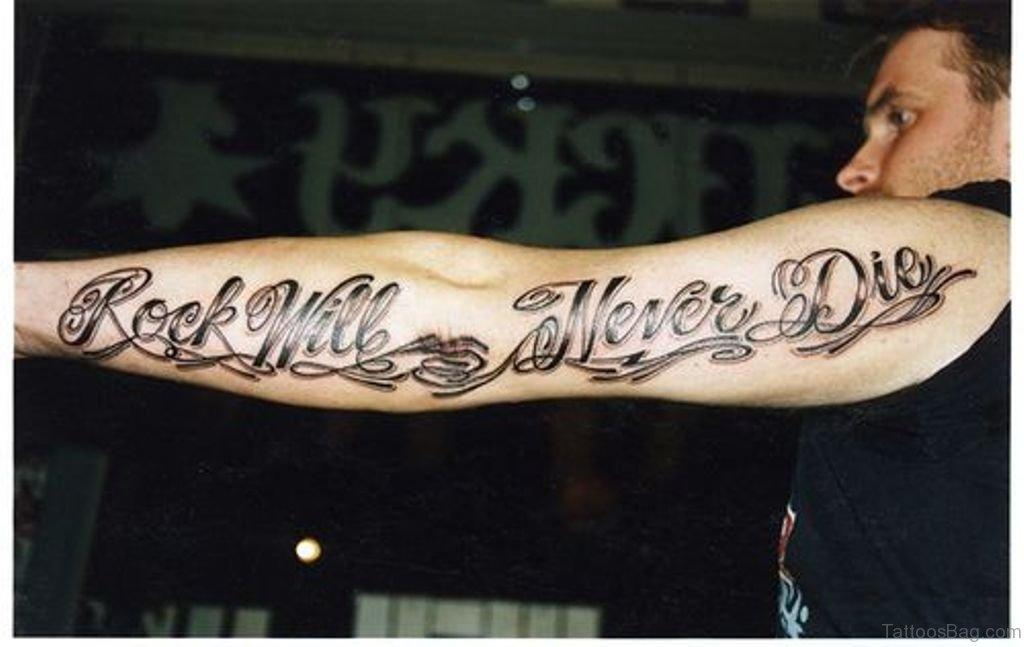 51 Beautiful Wording Tattoo For Arm