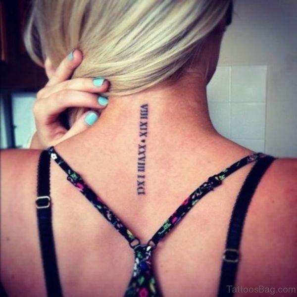 Roman Numeral Tattoo Design