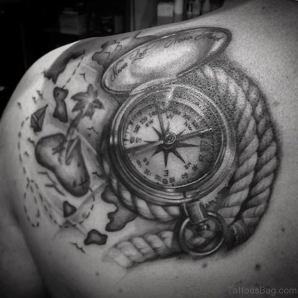 Rope And Compass Tattoo