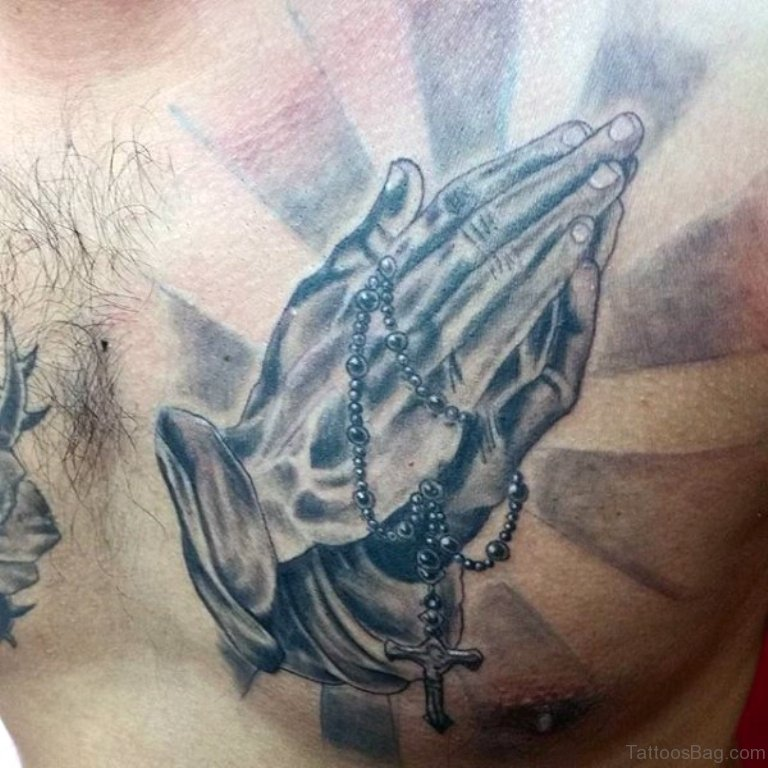 Jesus Hands Tattoos On Chest